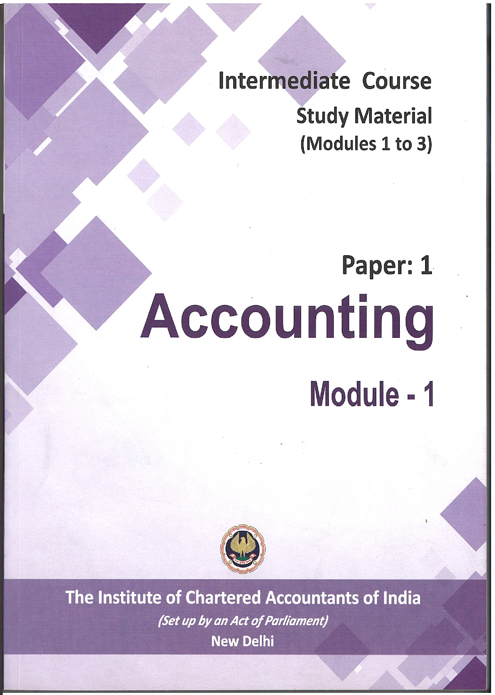 Accounting - (Module 1-3) - (English), July 2017