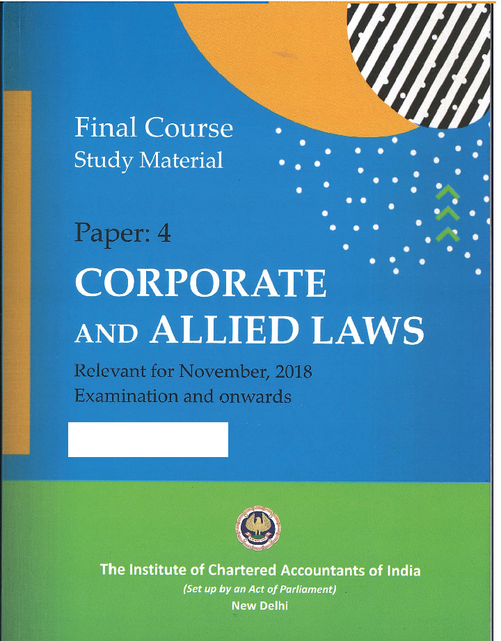 Final Course Study Material Corporate and Allied Laws Module - 1 and 2  (July,