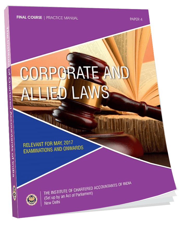 Final Practice Manual Corporate and Allied Laws, January, 2017