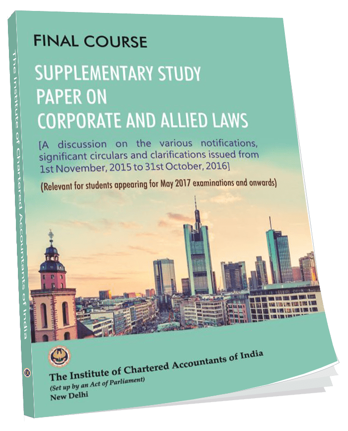 Supplementary Study Paper on Corporate and Allied Laws, January, 2017