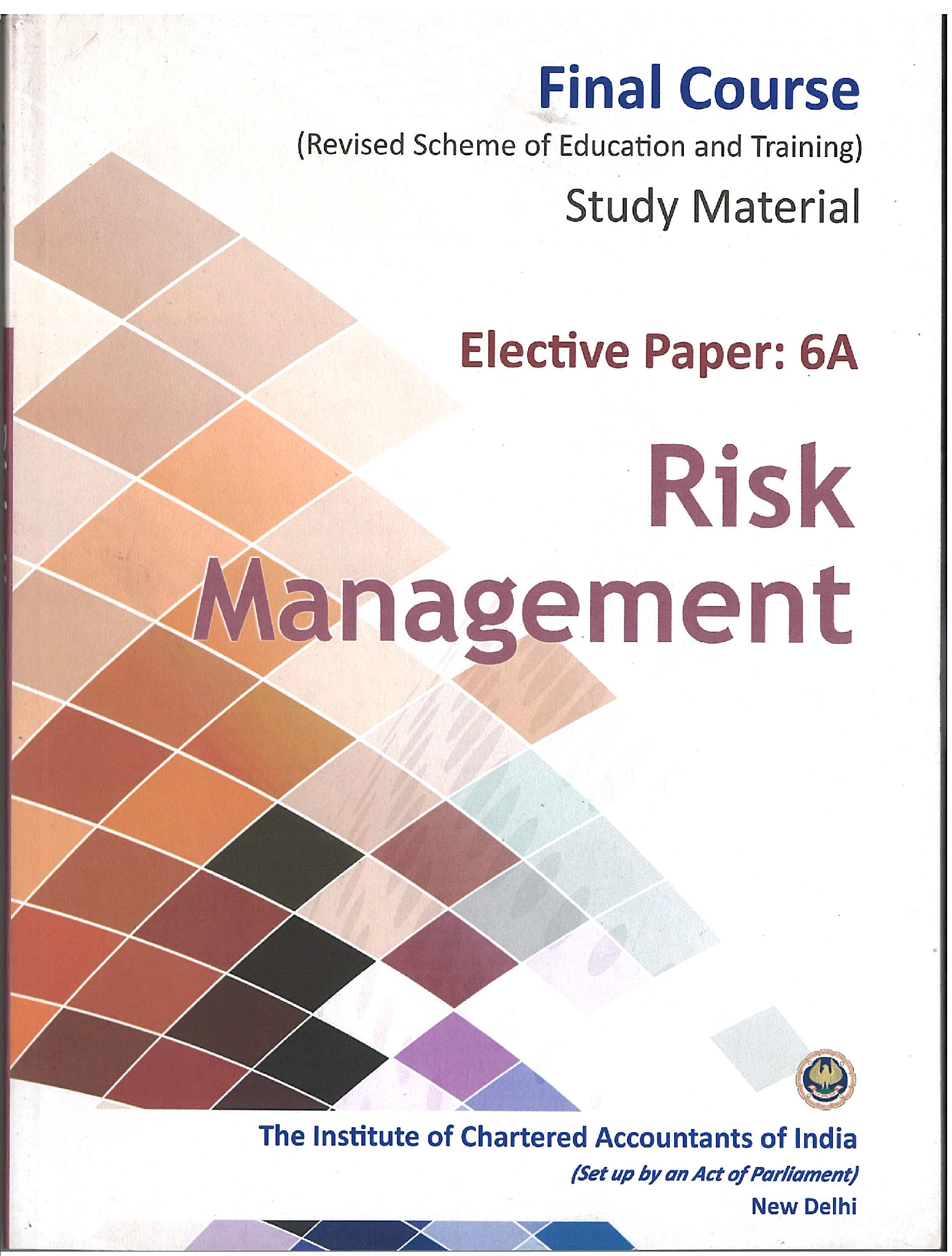 Elective Paper-Risk Management, November, 2017