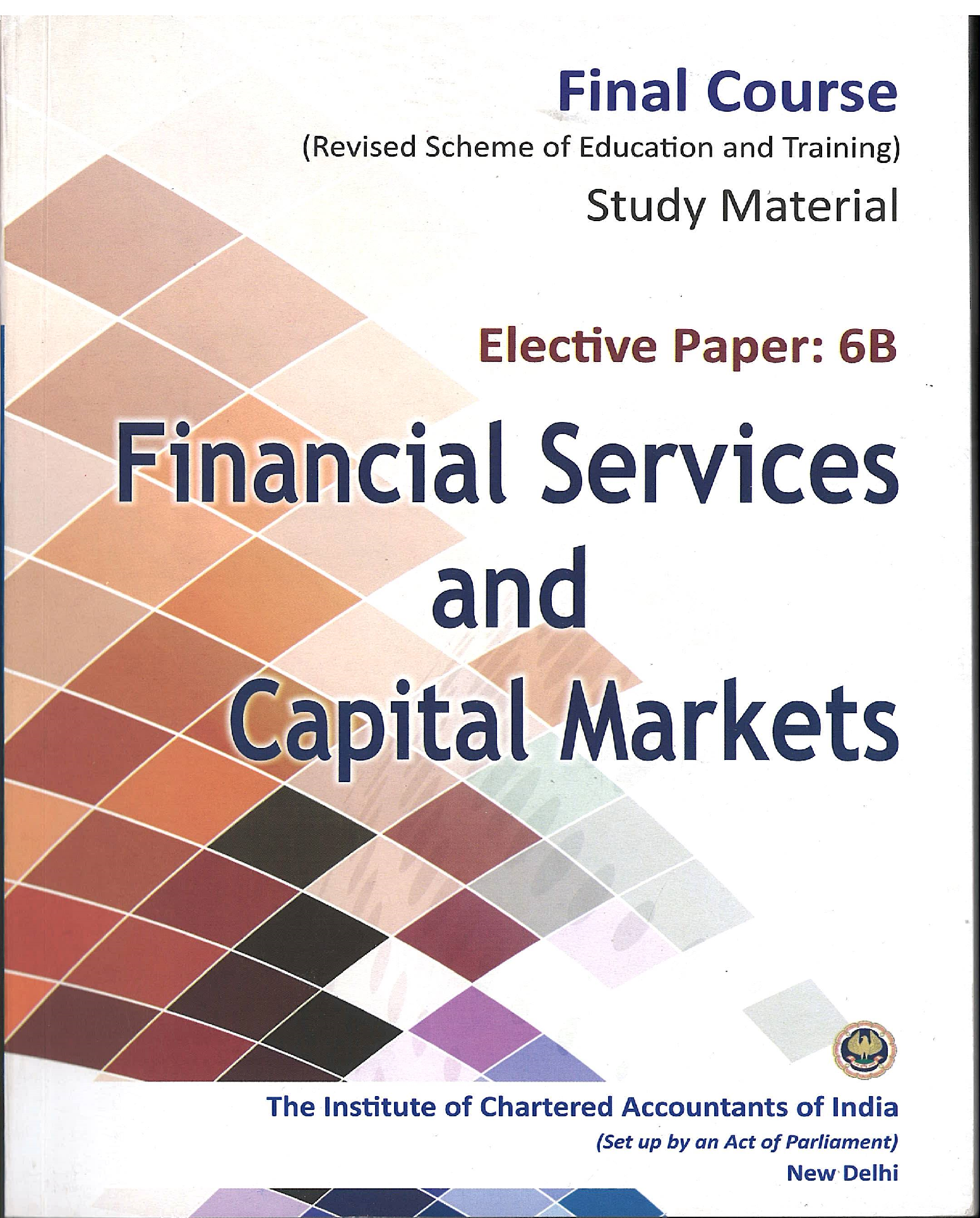 Elective Paper - Financial Services & Capital Markets - (English), August, 2017