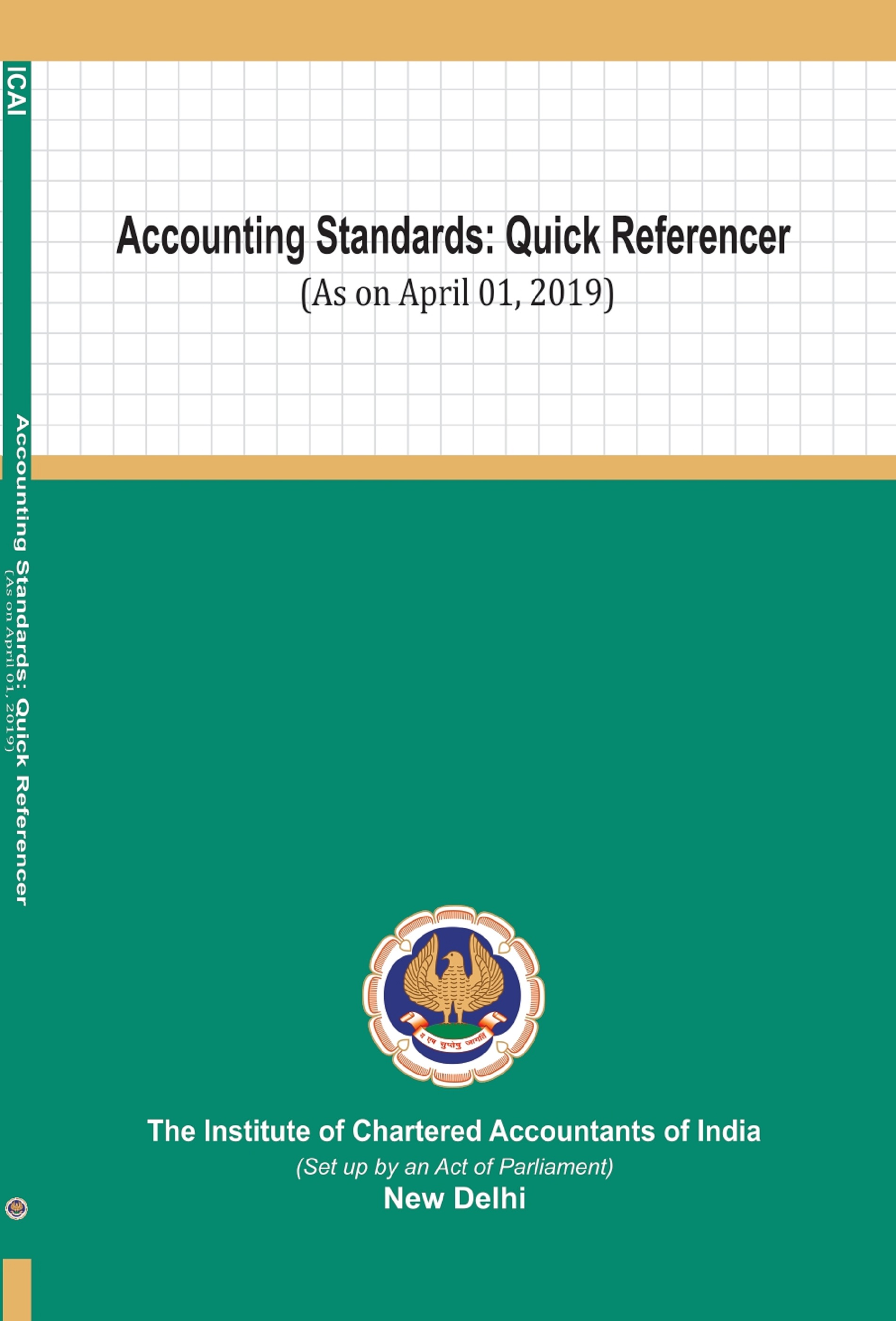 Accounting Standards: Quick Referencer (as on April 01, 2019)