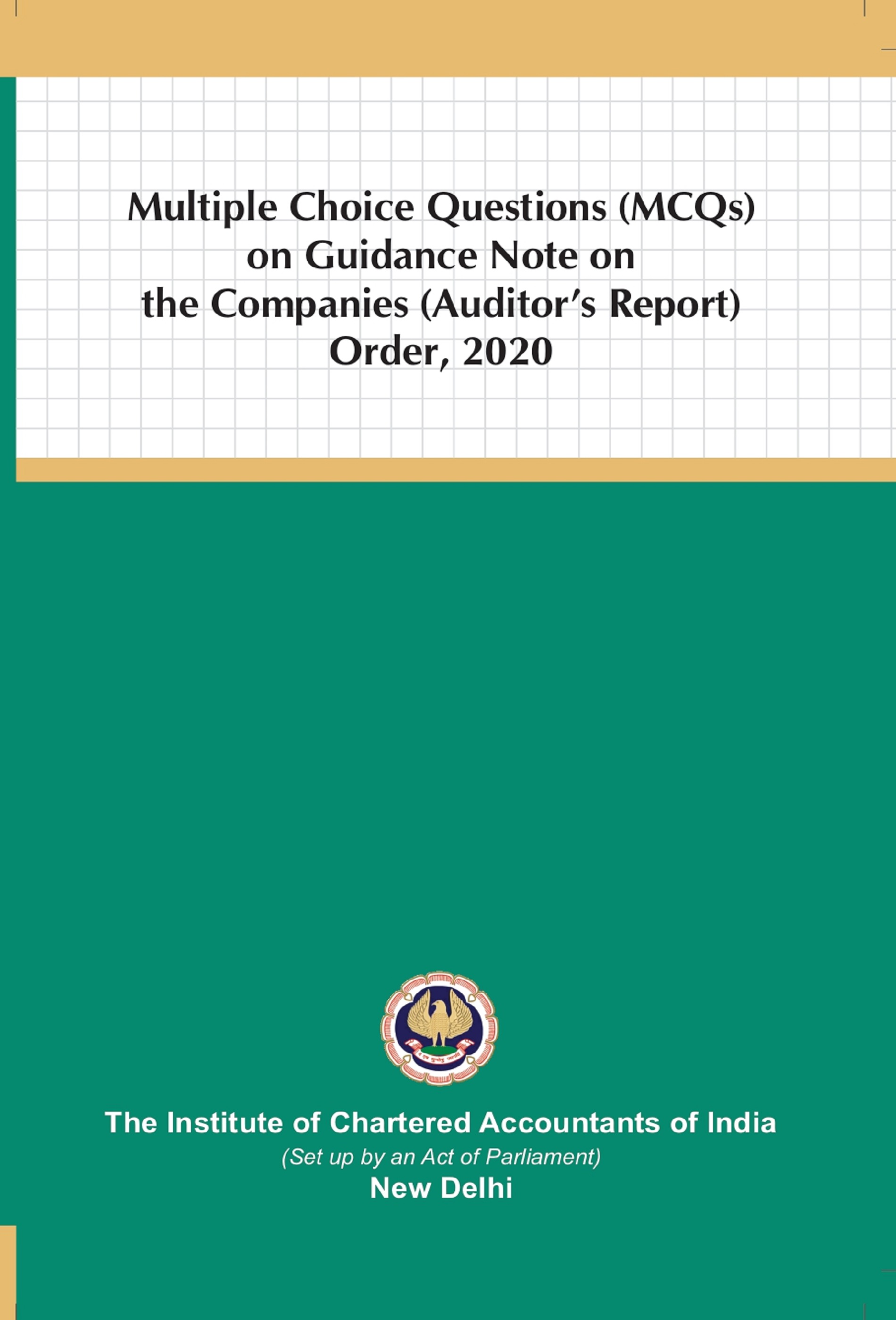 Multiple Choice Questions (MCQs) on Guidance Note on the Companies (Auditor's Report) Order, 2020