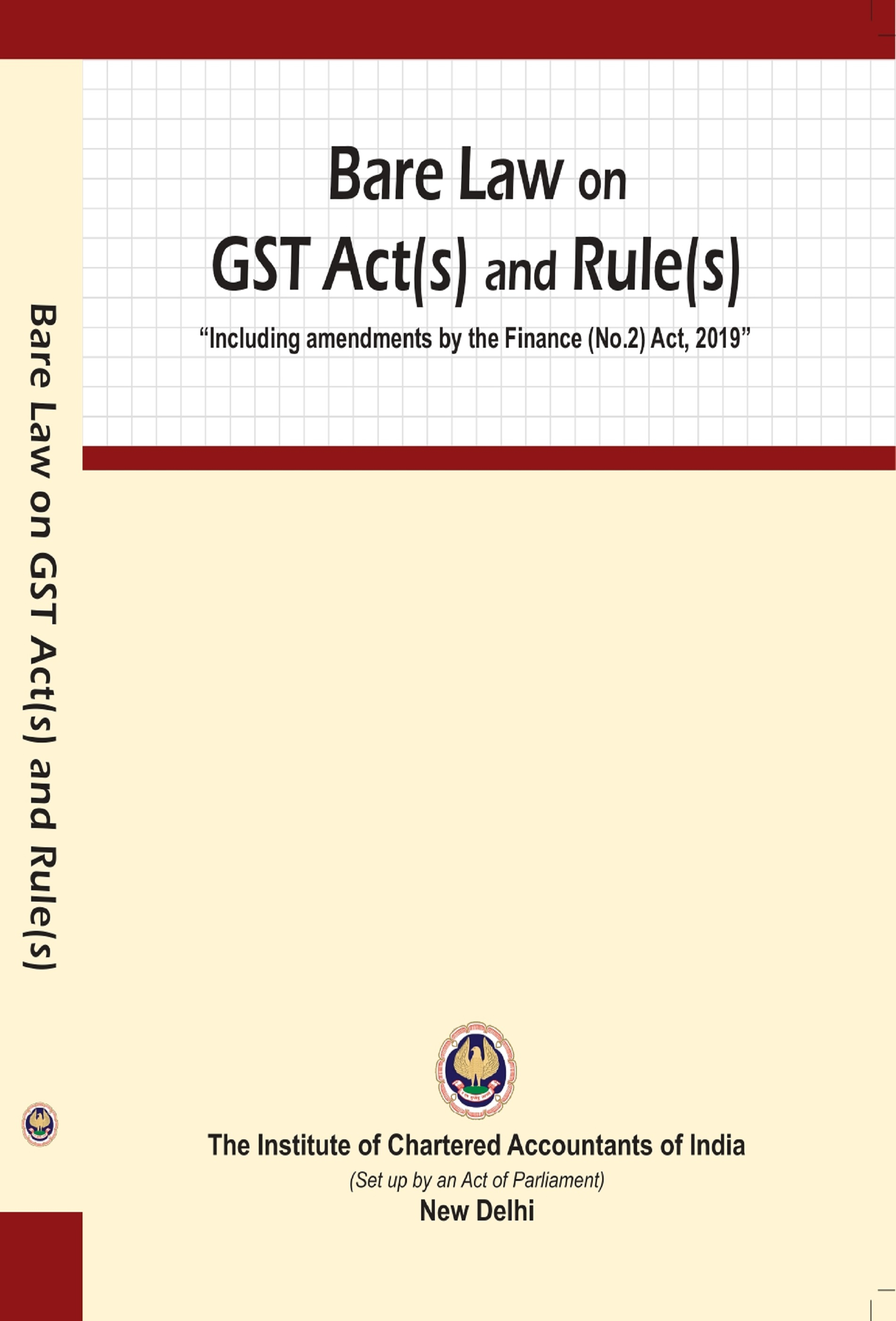 Bare Law on GST Act(s) and Rule(s) (October, 2019)