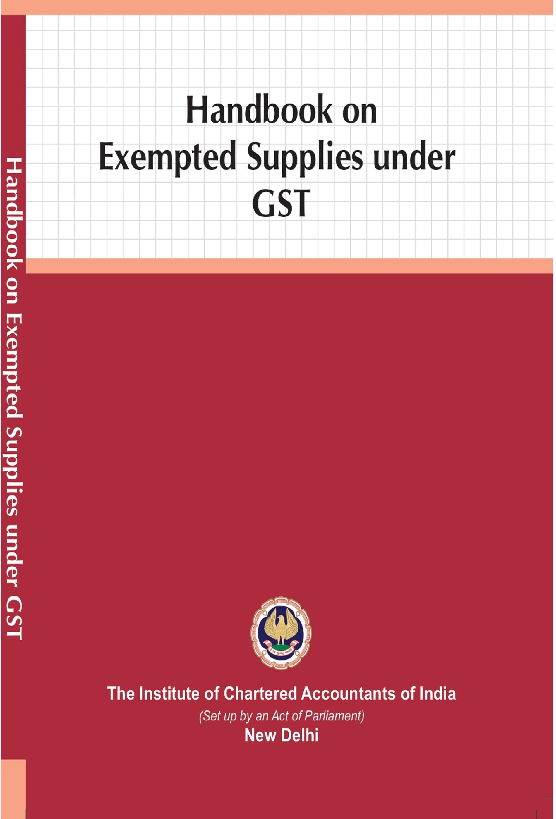 Handbook on Exempted Supplies under GST (February, 2020)