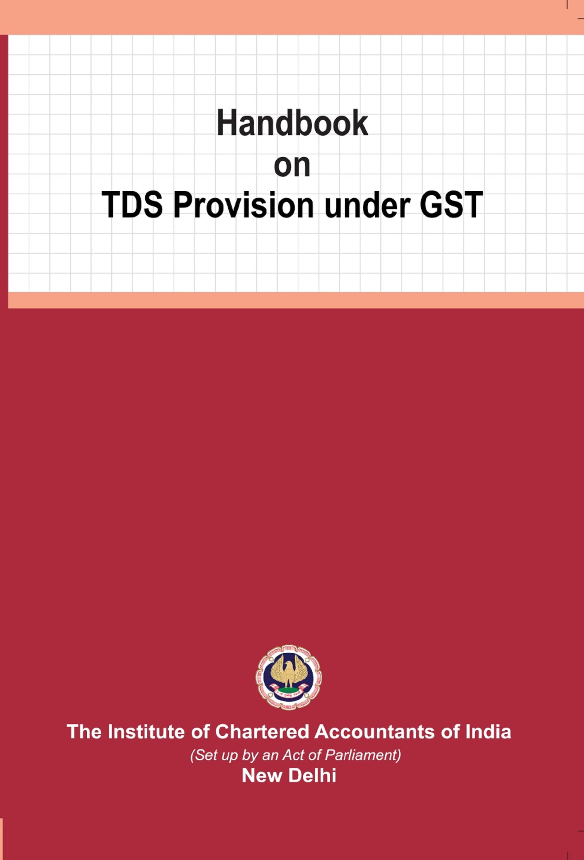 Handbook on TDS Provision under GST (May, 2020)