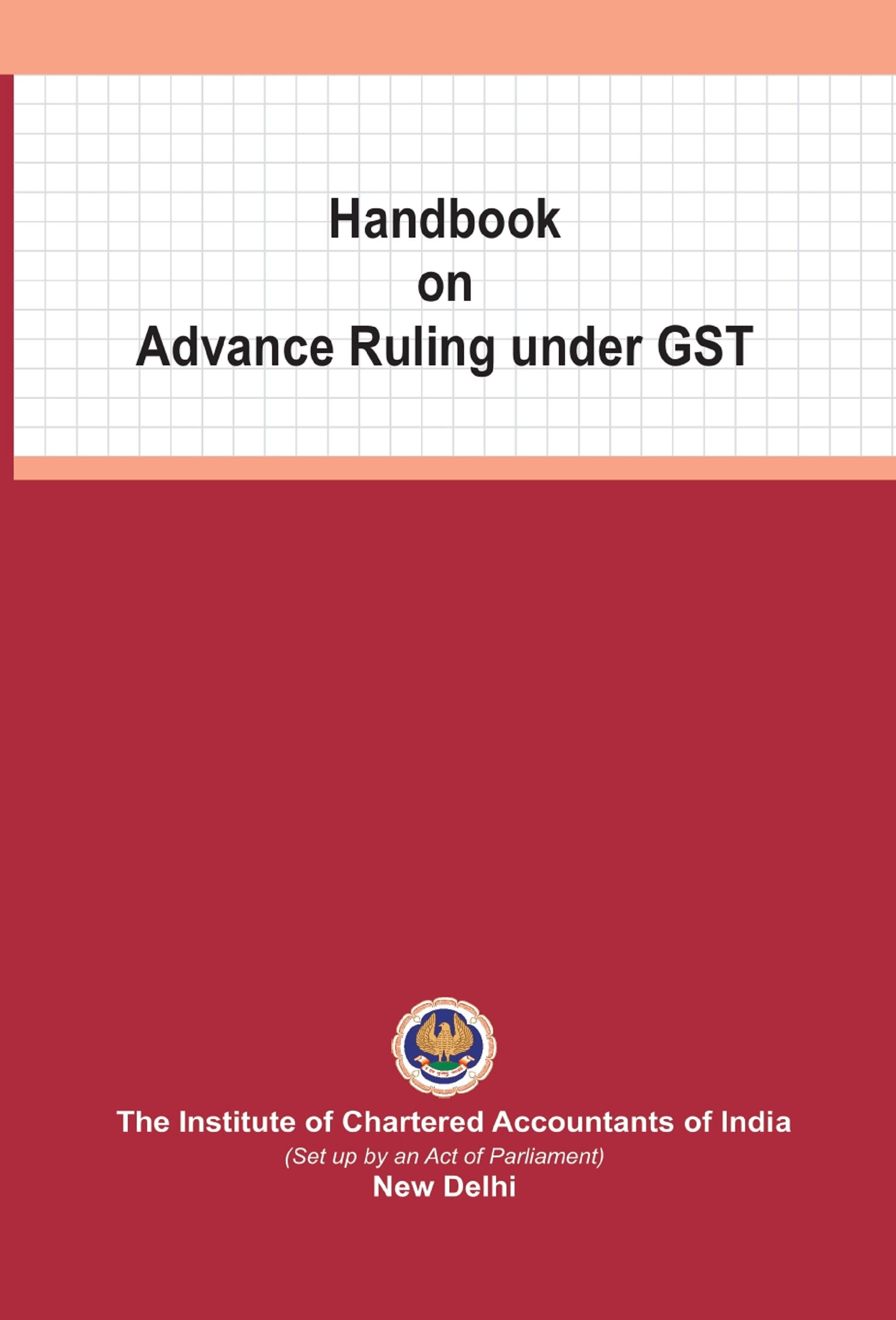 Handbook on Advance Ruling under GST (May, 2020)