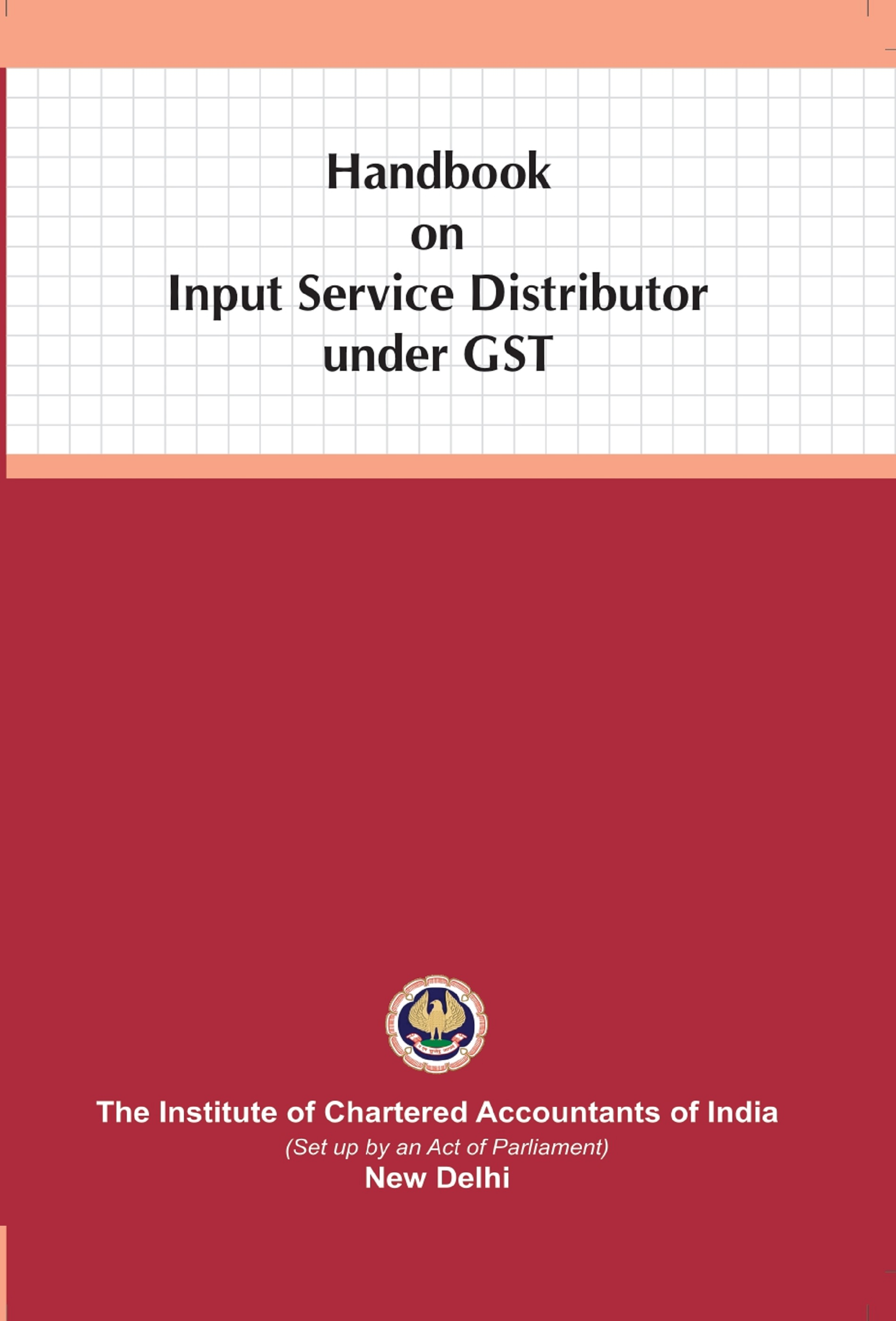 Handbook on Input Service Distributor under GST (August, 2020 Edition)