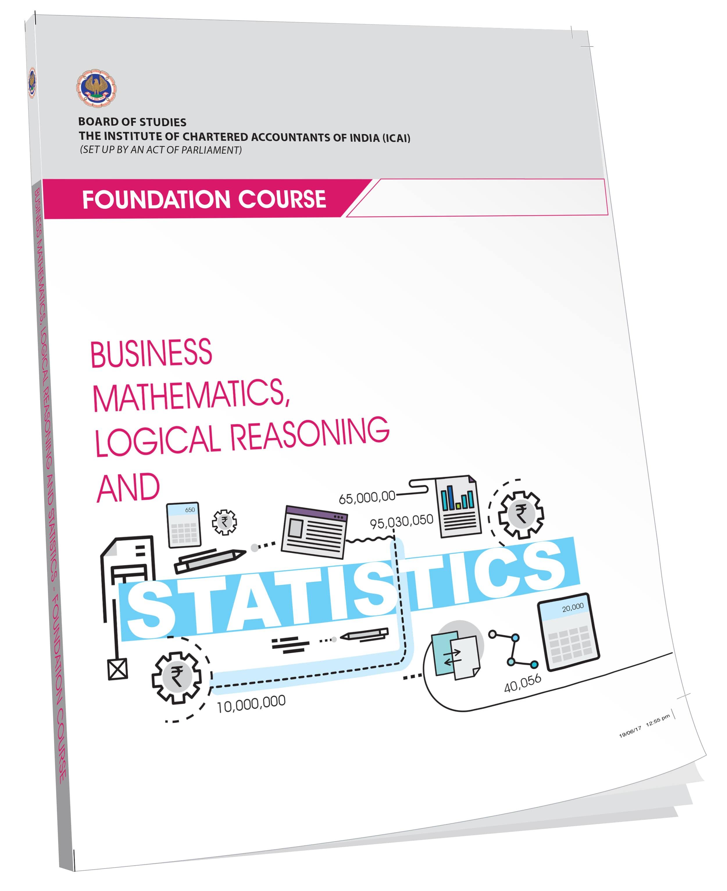 Business Mathematics, Logical Reasoning and Statistics (English), July, 2017