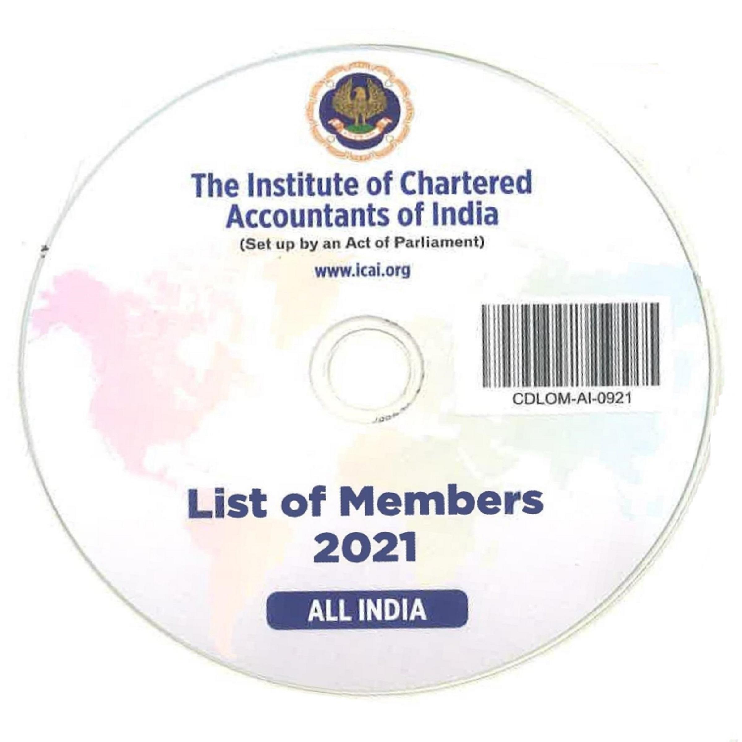 CD-List of Members, 2021 (All India Basis)