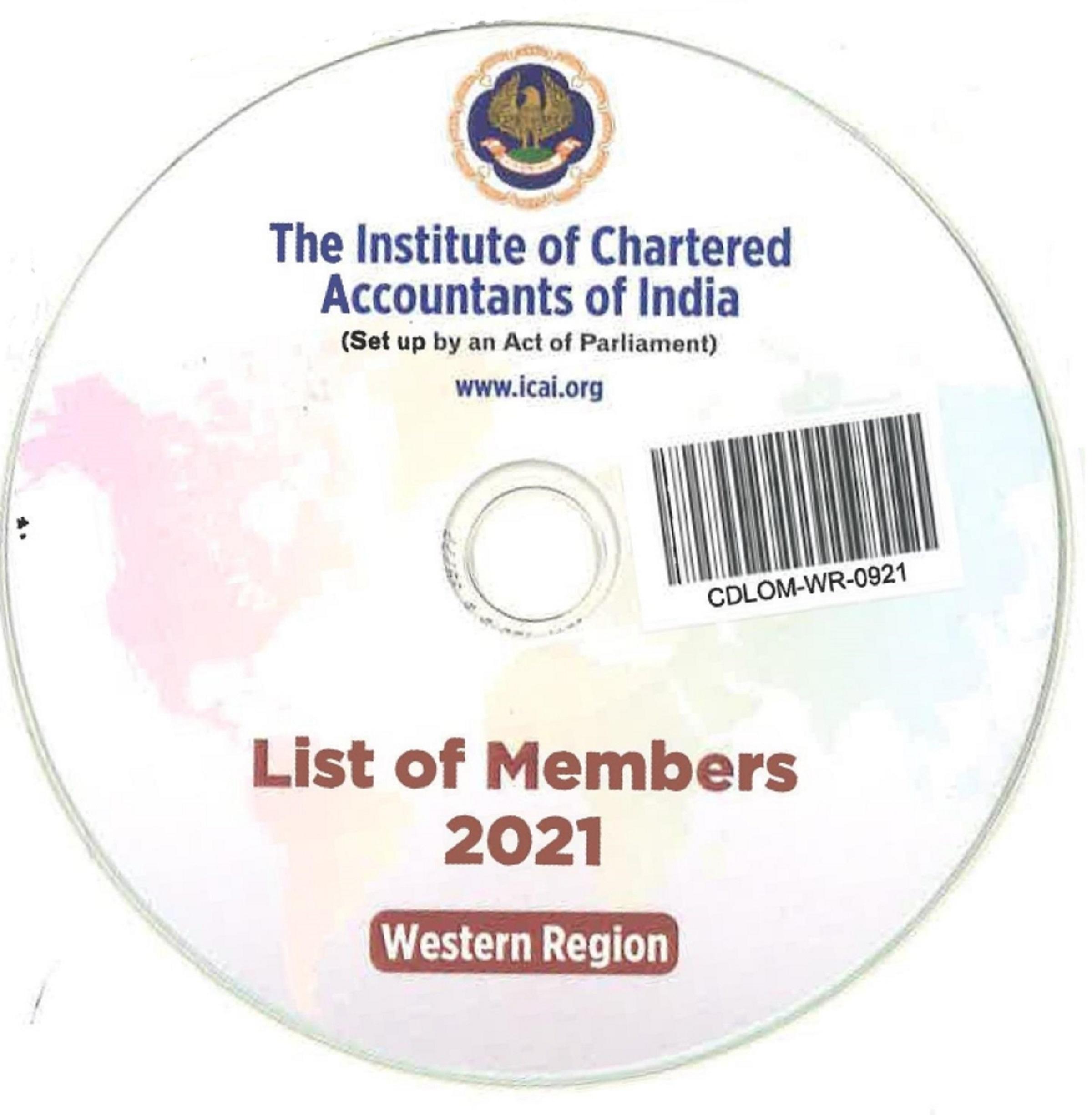 CD-List of Members, 2021 (Western Region)