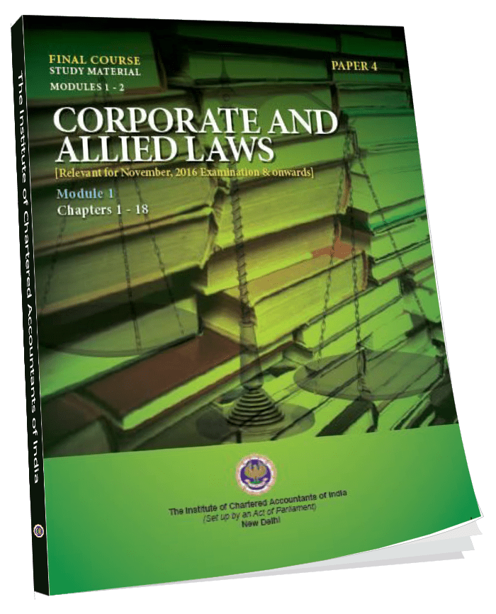 Final Study Material Corporate and Allied Laws Module 1 & 2, Jan. 2016