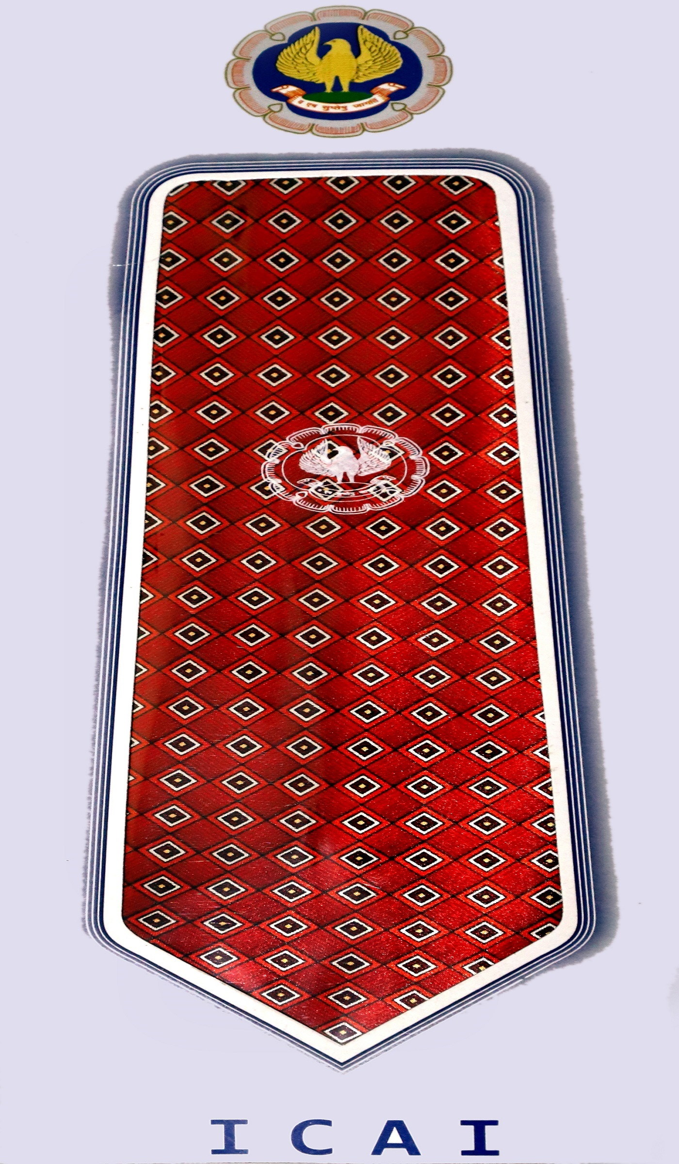 ICAI Neck Tie Red