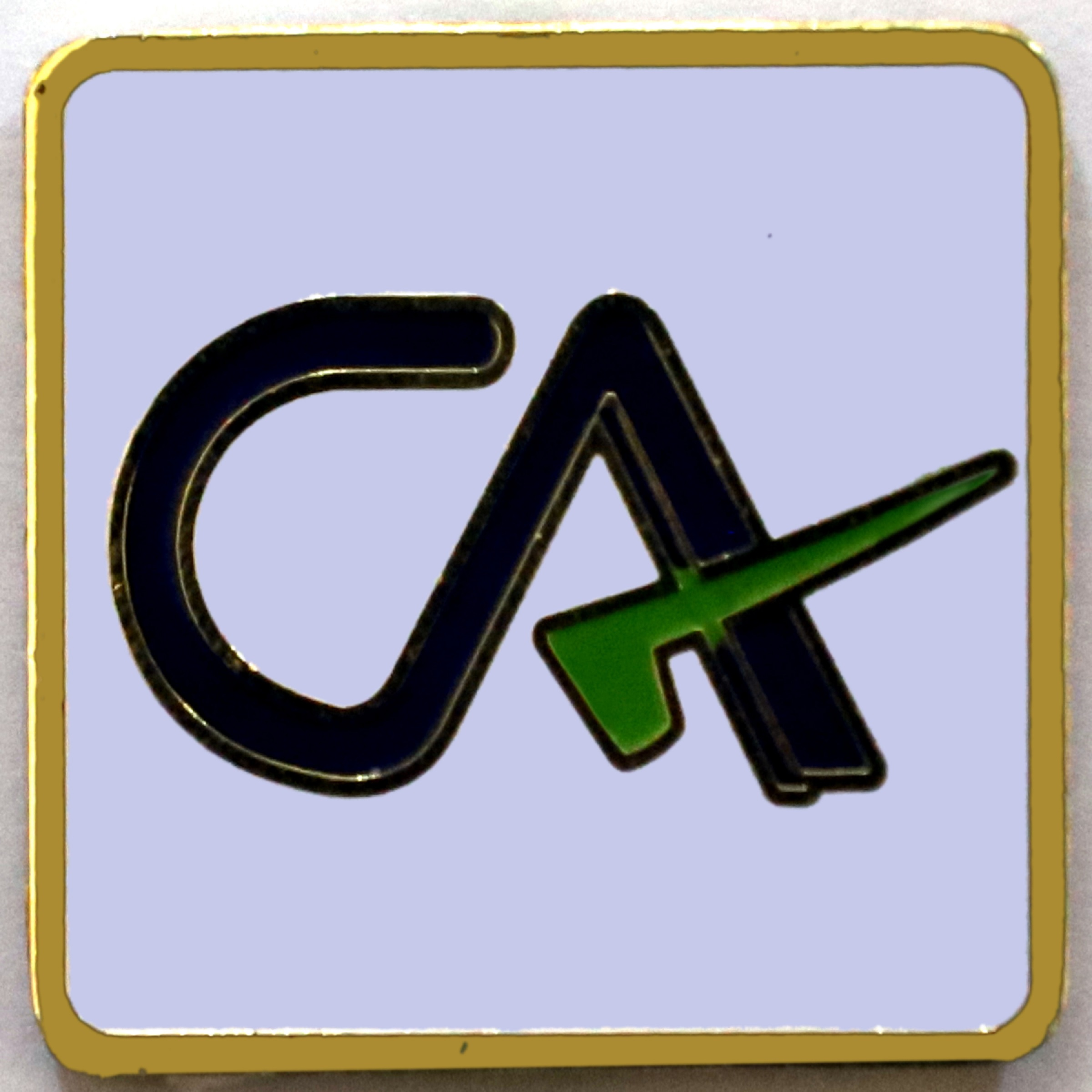 ICAI Lapel Pin CA (Member) (Square) - July, 2019