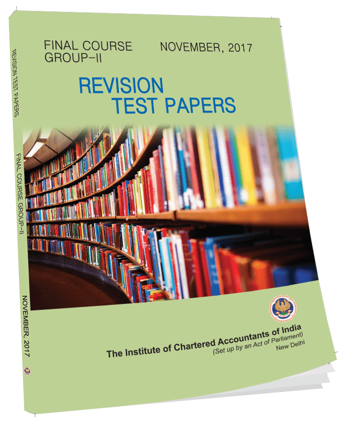 Final Revisionary Test Paper (RTP) Group-II - Nov. 2017 (English)