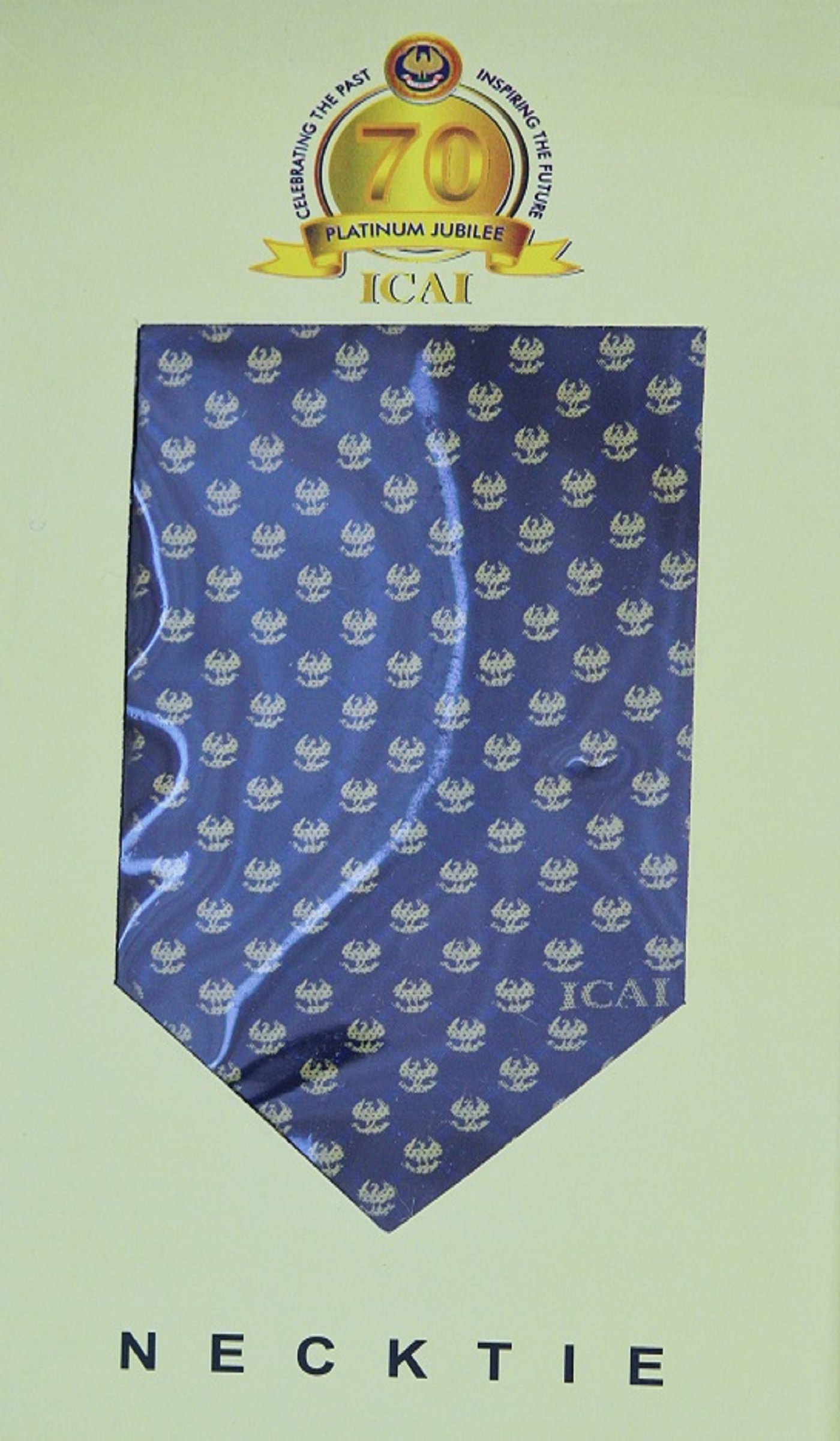ICAI Platinum Jubilee NECK TIE - Navy Blue