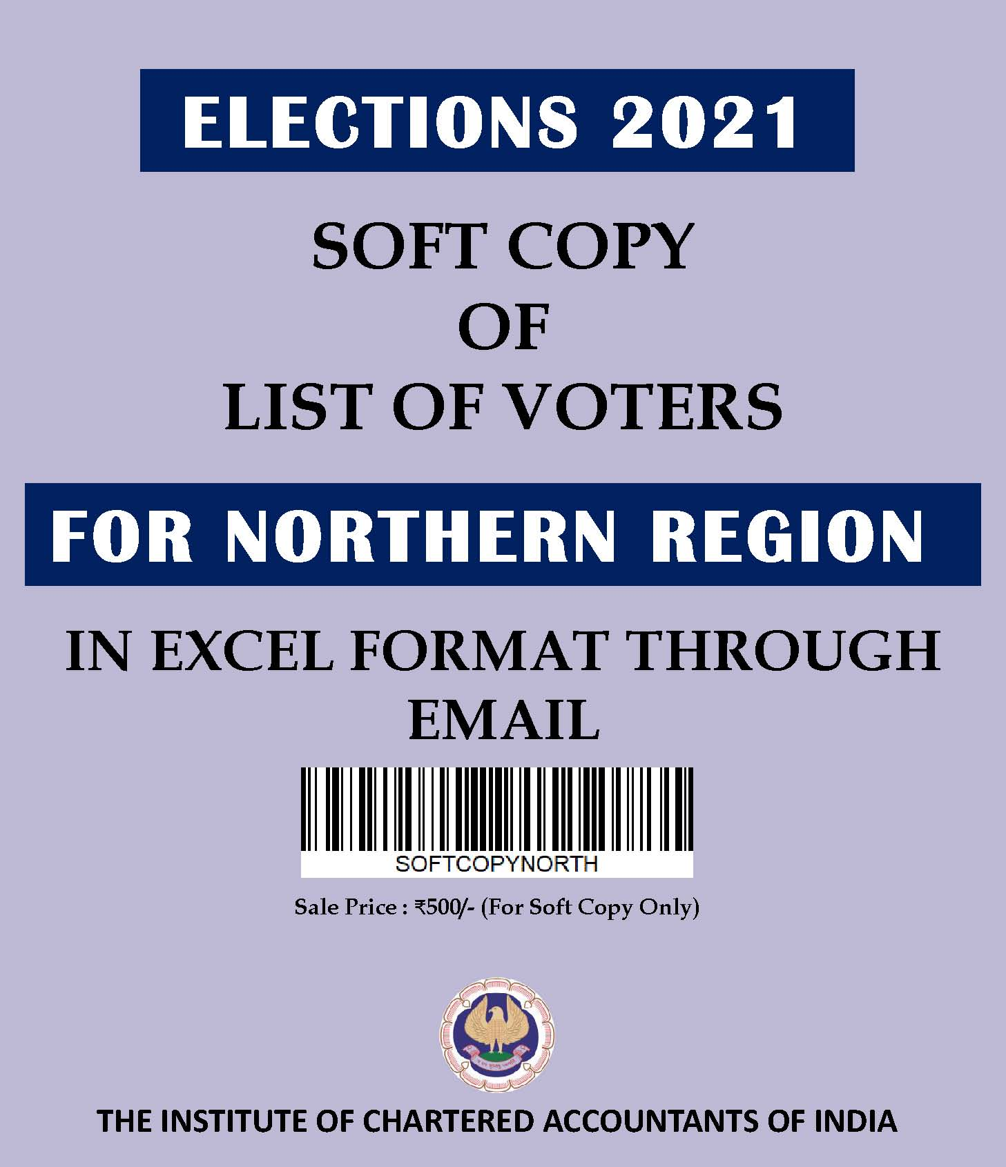 SOFT COPY: List of Voters for Northern Region (Elections 2021) in Excel Format Through E-mail